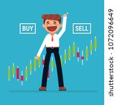 young man trader and business... | Shutterstock .eps vector #1072096649
