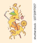 mimosa cocktail colorful vector ... | Shutterstock .eps vector #1072097057