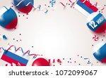 12 june happy russia day...   Shutterstock .eps vector #1072099067