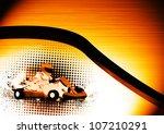 abstract grunge color gocart... | Shutterstock . vector #107210291