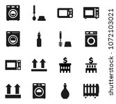 flat vector icon set   toilet... | Shutterstock .eps vector #1072103021
