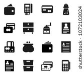 flat vector icon set   hand... | Shutterstock .eps vector #1072103024