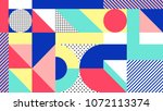 vector colorful geometric... | Shutterstock .eps vector #1072113374