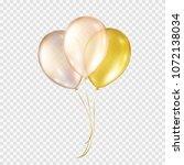 balloons isolated on... | Shutterstock .eps vector #1072138034