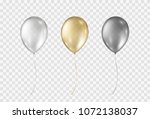 balloons isolated on... | Shutterstock .eps vector #1072138037