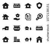 flat vector icon set   house...   Shutterstock .eps vector #1072138151