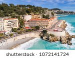 nice  france  aerial view of... | Shutterstock . vector #1072141724