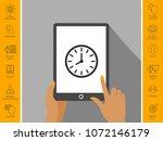 watch icon symbol | Shutterstock .eps vector #1072146179