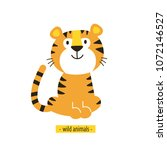 cute vector tiger. perfect for... | Shutterstock .eps vector #1072146527