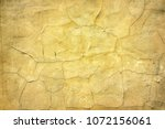 old cracked weathered concrete... | Shutterstock . vector #1072156061