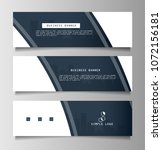 set of business banner template ... | Shutterstock .eps vector #1072156181