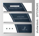 set of business banner template ... | Shutterstock .eps vector #1072156181