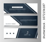 set of business banner template ... | Shutterstock .eps vector #1072156187