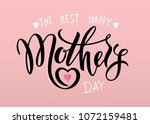 happy mother's day calligraphy...   Shutterstock .eps vector #1072159481