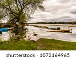 cottage country lake showing... | Shutterstock . vector #1072164965