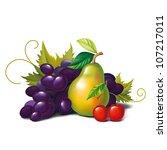 fruit | Shutterstock .eps vector #107217011