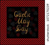gaelic may day simple hand... | Shutterstock .eps vector #1072170239