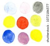 watercolors on paper | Shutterstock . vector #1072186577