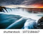 amazing view of powerful...   Shutterstock . vector #1072186667