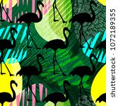 seamless exotic vector pattern... | Shutterstock .eps vector #1072189355