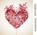 abstract image of the heart.... | Shutterstock .eps vector #107218991