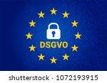 dsgvo   german datenschutz... | Shutterstock .eps vector #1072193915