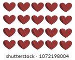 an illustration of heart red... | Shutterstock . vector #1072198004