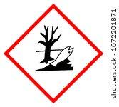 warning sign environmental... | Shutterstock . vector #1072201871