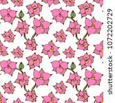 seamless pattern with pink... | Shutterstock .eps vector #1072202729
