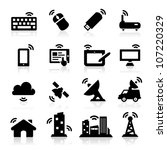 wireless icons | Shutterstock .eps vector #107220329