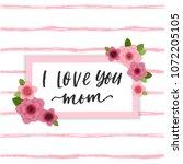happy mother's day elegant... | Shutterstock .eps vector #1072205105