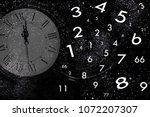numerology world and space clock | Shutterstock . vector #1072207307