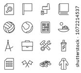 flat vector icon set   search... | Shutterstock .eps vector #1072214537