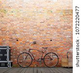 empty brick wall for mockup... | Shutterstock . vector #1072220477