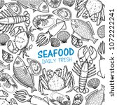 graphic seafood  vector | Shutterstock .eps vector #1072222241