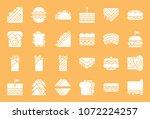 fast food  sandwich such as... | Shutterstock .eps vector #1072224257