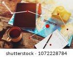 planning a trip. hiking...   Shutterstock . vector #1072228784