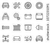 flat vector icon set   car...