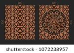 laser cutting set. woodcut... | Shutterstock .eps vector #1072238957