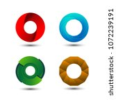 abstract colorful circle logo... | Shutterstock .eps vector #1072239191