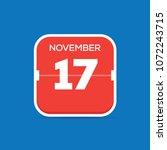 november 17 calendar flat icon | Shutterstock .eps vector #1072243715