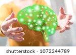 artificial intelligence concept ... | Shutterstock . vector #1072244789