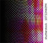 vintage halftone color dots... | Shutterstock .eps vector #1072246094