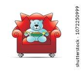 happy bear cartoon or mascot... | Shutterstock .eps vector #1072250999