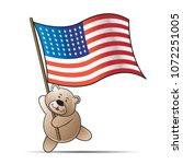 happy bear cartoon or mascot... | Shutterstock .eps vector #1072251005