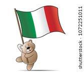 happy bear cartoon or mascot... | Shutterstock .eps vector #1072251011