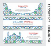 set of beautiful header or... | Shutterstock .eps vector #1072252781