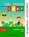 kids summer camp ad  poster or... | Shutterstock .eps vector #1072254845