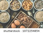 bowl with healthy whole grain... | Shutterstock . vector #1072254854