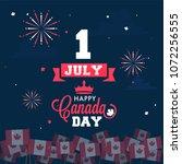happy canada day celebration... | Shutterstock .eps vector #1072256555